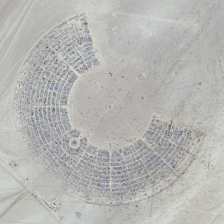 Hi Res Satellite Photo : Me, Burners and The Man Burning man satellite photo 2012